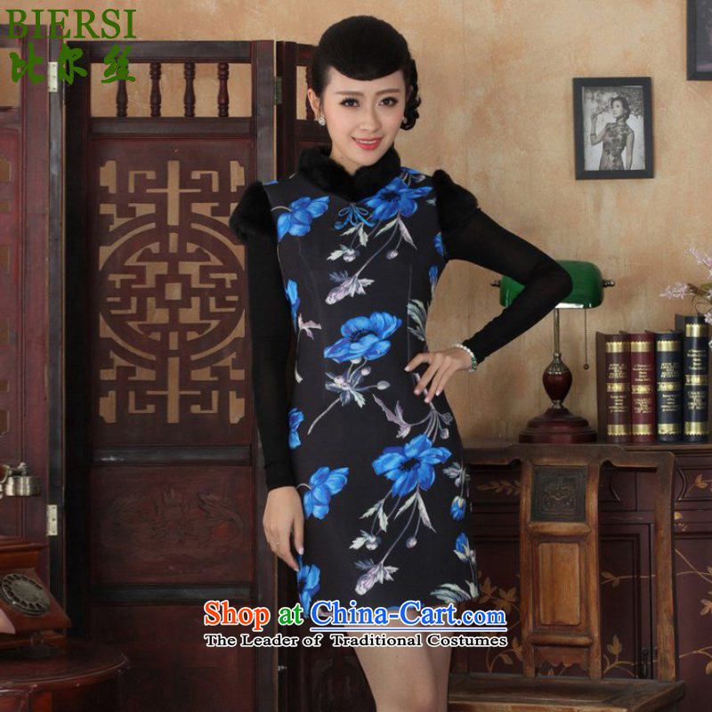Carl Bildt population of ethnic Chinese improvement of nostalgia for the women's dresses flower Sau San Tong loaded short of winter cheongsam ancient /Y0029# figure�S