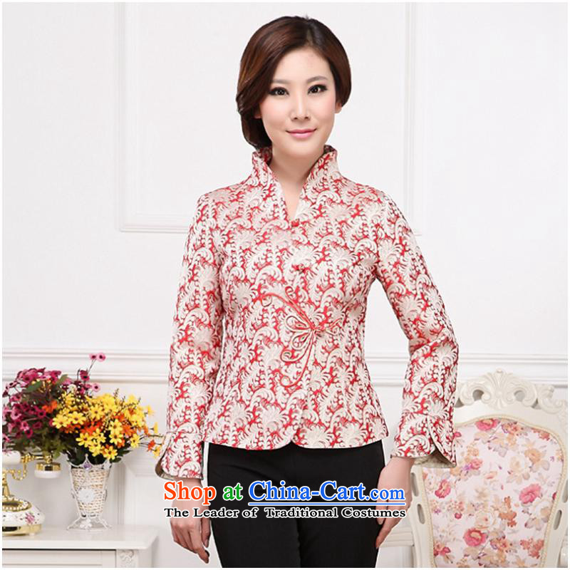 The hotel is inside the autumn and winter tea art long-sleeved clothing attendants Ms. teahouse jacket coat new black single?3XL Yi