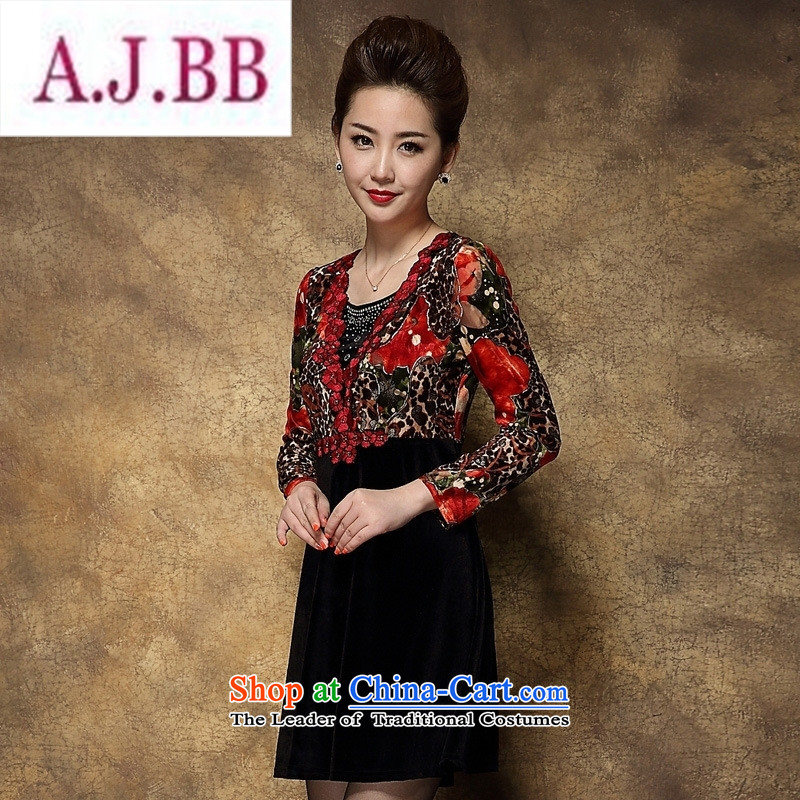 Ms Rebecca Pun stylish shops fall inside the skirt the new and old age are larger middle-aged mother Kim installed wedding velvet�3XL red