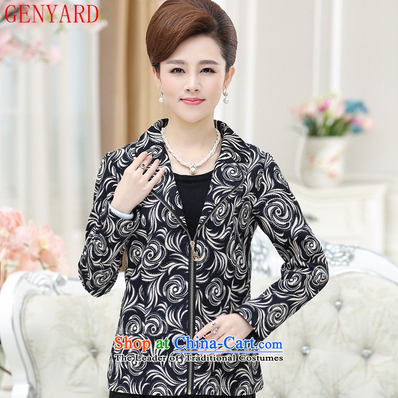 New Spring and Autumn GENYARD2015) women's older lapel jacket large load Slim, mother stamp jacket Phillips-head?2XL