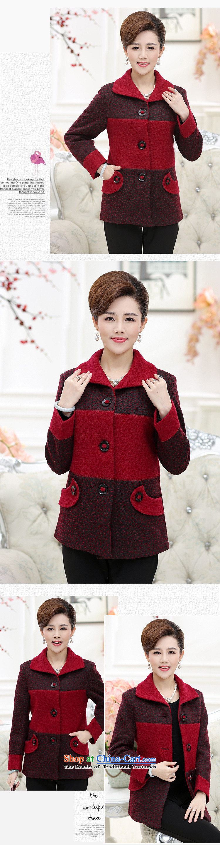 September Girl Store* New Older Women's gross? put new mother coat) and older persons in the wool? Jacket Code Red聽XXXL picture, prices, brand platters! The elections are supplied in the national character of distribution, so action, buy now enjoy more preferential! As soon as possible.