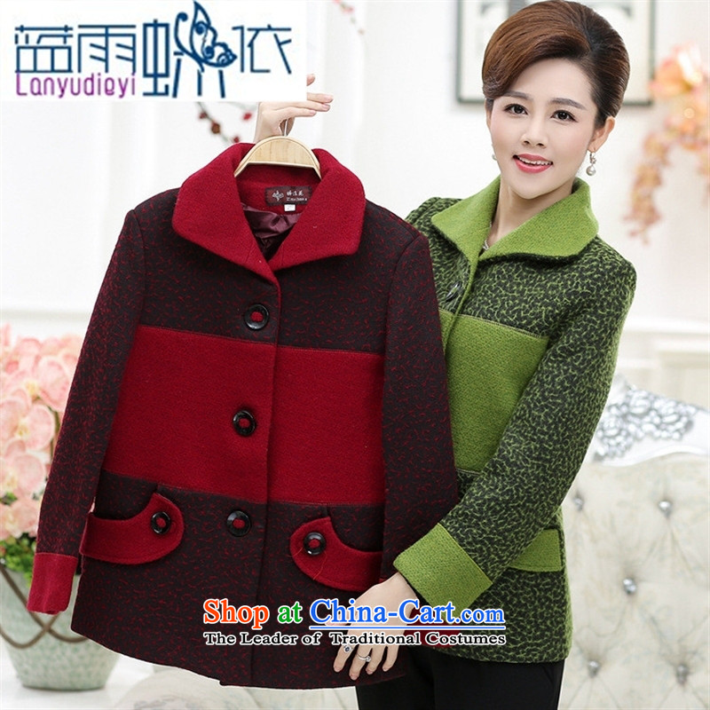 September Girl Store* New Older Women's gross? put new mother coat) and older persons in the wool? Jacket Code Red聽XXXL, blue rain butterfly according to , , , shopping on the Internet