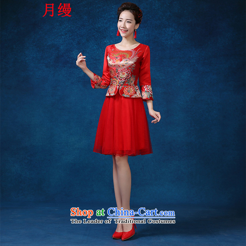 The following new paragraph on 2015 Sau Wo service use hi-Dragon Chinese qipao gown marriage bows wedding gown improved retro red 7 Cuff聽XL