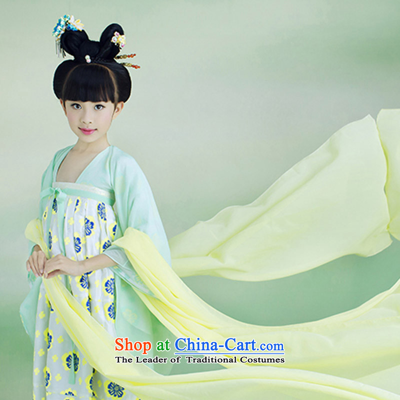 Kids will start with the child care services show girls Han-Princess clothing chest skirt Gwi-hay you can multi-select attributes by using green?140CM