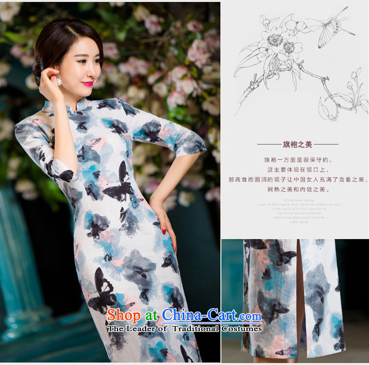 Honey Qi princess of聽autumn and winter 2015 new retro in thin cuff Sau San video larger improved linen long skirt qipao Samui red聽XL Photo, prices, brand platters! The elections are supplied in the national character of distribution, so action, buy now enjoy more preferential! As soon as possible.