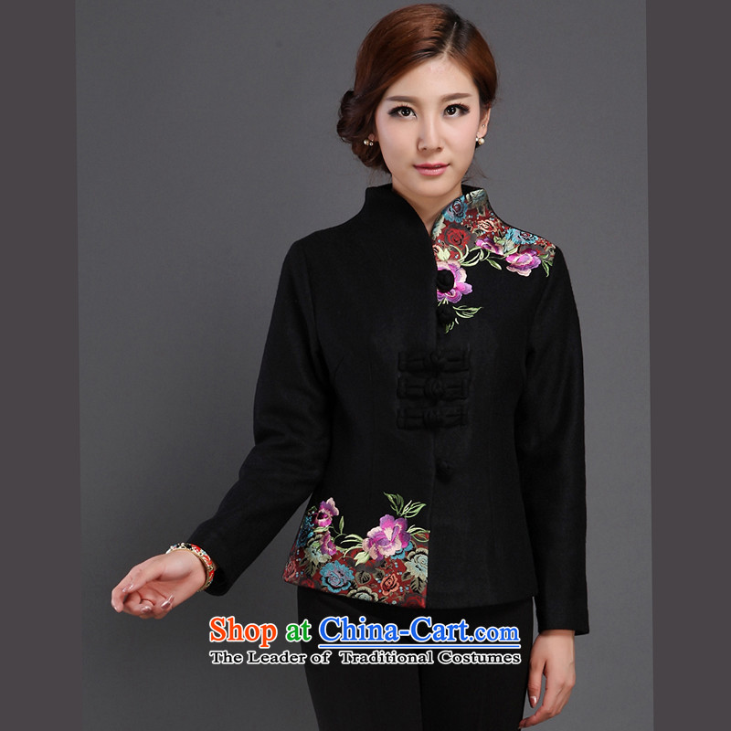 The Cave of the elderly and old age urges explosive factory, thick hair? Tang jackets for autumn and winter by high load Y167 mother black XXL