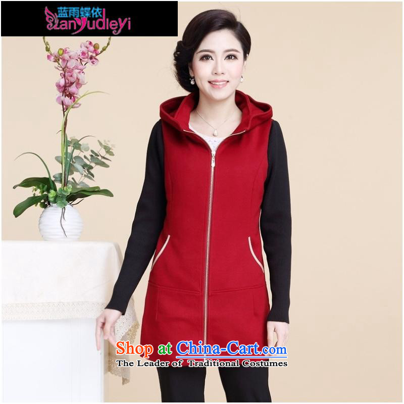 September female shop in the autumn the new *2015 Older Women fall in gross load? long long-sleeved jacket for larger mother blouses female black?L