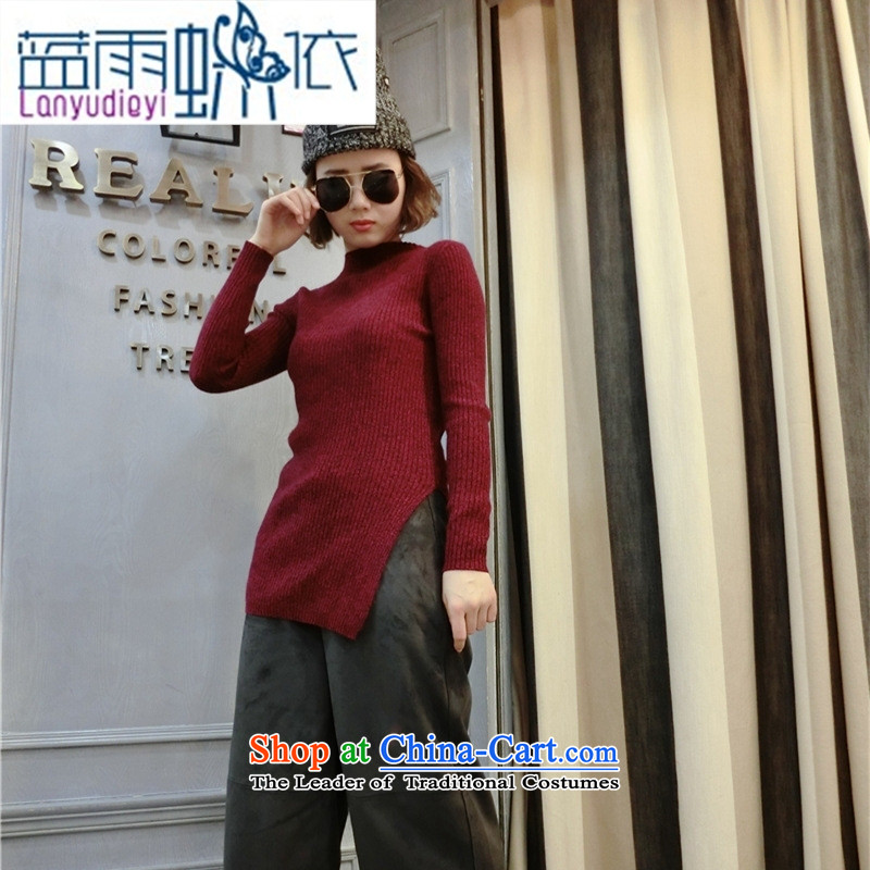 Ya-ting shop 2015 winter clothing new Korean female stingrays woolen sweater, forming the basis of the forklift truck Shirt   Solid Color collar stingrays fleece clothing pink are code