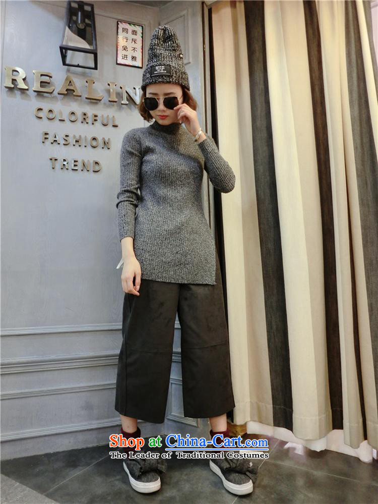 Ms Rebecca Pun stylish shops 2015 winter clothing new Korean female stingrays woolen sweater, forming the basis of the forklift truck Shirt