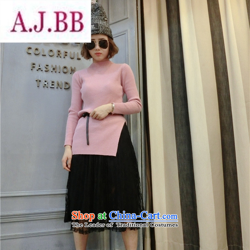 Ms Rebecca Pun stylish shops 2015 winter clothing new Korean female stingrays woolen sweater, forming the basis of the forklift truck Shirt   Solid Color collar stingrays fluff Yi will gray ,A.J.BB,,, shopping on the Internet