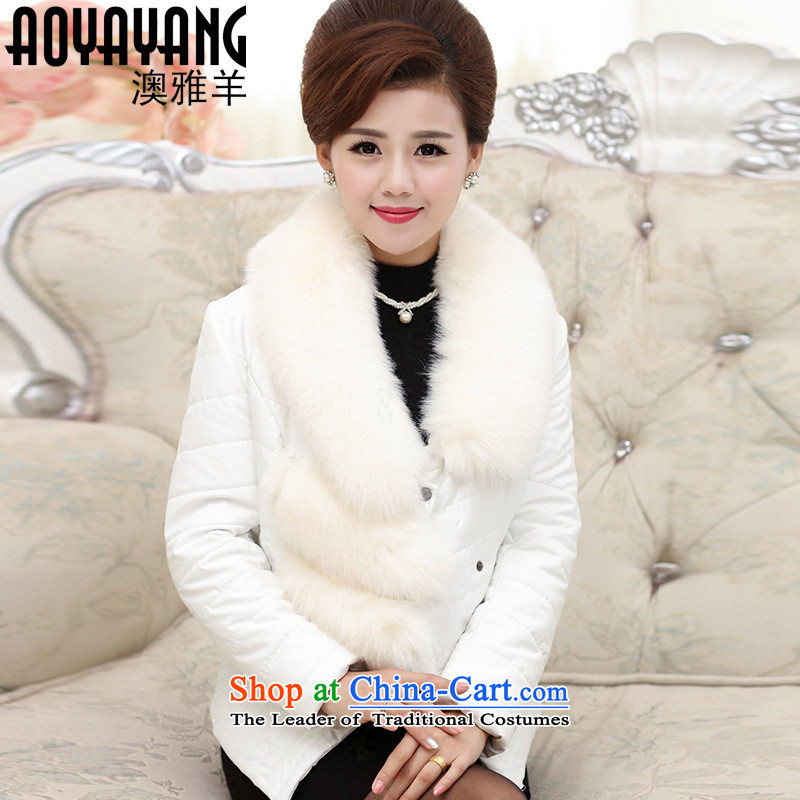 Mano-hwan's 2015 new moms with feather cotton coat female autumn and winter short_ with cap large ãþòâ Korean jacket coat Choongbuk _1,366.35 Black XL