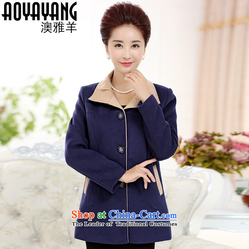 Mano-hwan, older women woolen coats middle-aged moms load? for winter coats in a long autumn and winter coats red燲L