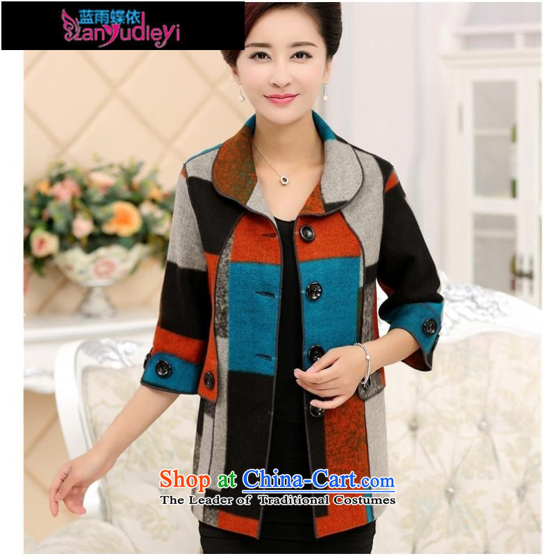 September Girl Store *2015 Fall/Winter Collections in the new elderly mother in the Cuff gross? middle-aged female jacket jacket coat red?XL