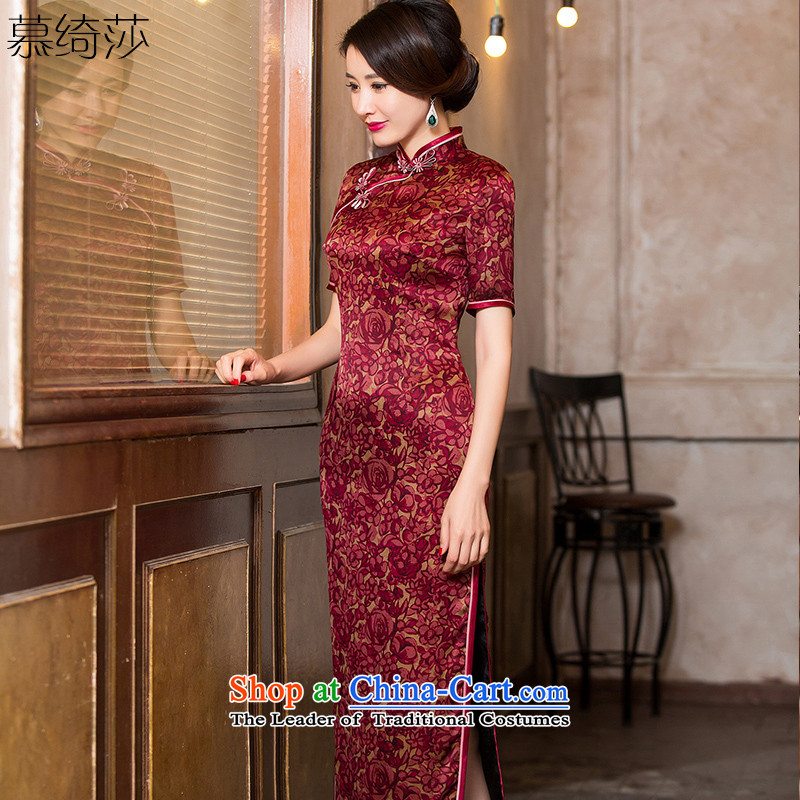 The Windsor is?2015 complaints as the new Silk Cheongsam autumn cloud of incense yarn in the Cuff cheongsam dress classical Chinese qipao gown, color picture HY6090?M