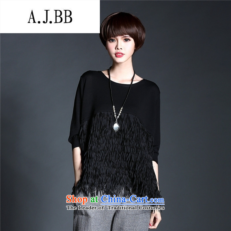 2015 Autumn new trend of European fashionable ladies of fresh T-shirt, black T-shirt (7 day shipping) Payment L