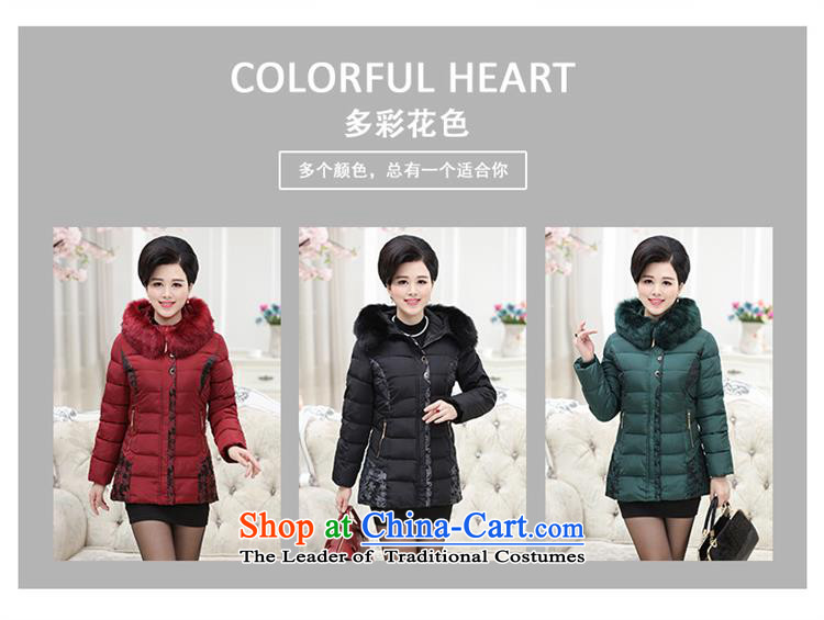 Orange Tysan *2015 in older women's new thick with cap embroidered quilts for gross MOM pack ãþòâ cotton coat jacket, wine red XXL picture, prices, brand platters! The elections are supplied in the national character of distribution, so action, buy now enjoy more preferential! As soon as possible.
