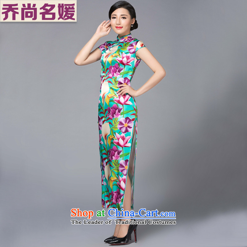 Joe was aristocratic heavyweight Silk Cheongsam banquet of autumn and winter improvement of herbs extract CKZS013 long suit?L