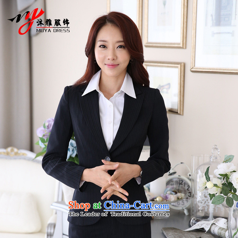 Orange Tysan * New autumn replacing professional attire female long-sleeved clothing female OL hotel manager stylish reception suits possession blue�XXL