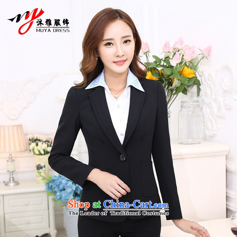 Orange Tysan * autumn and winter OL suit female professional attire kit skirt kit workwear interview floor the hotel reception 2015 uniform black?L