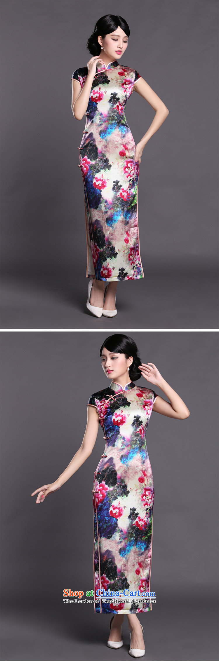 Joe was aristocratic cheongsam dress suit Chinese banquet silk long ethnic CKZS010 SUIT聽XXXL picture, prices, brand platters! The elections are supplied in the national character of distribution, so action, buy now enjoy more preferential! As soon as possible.