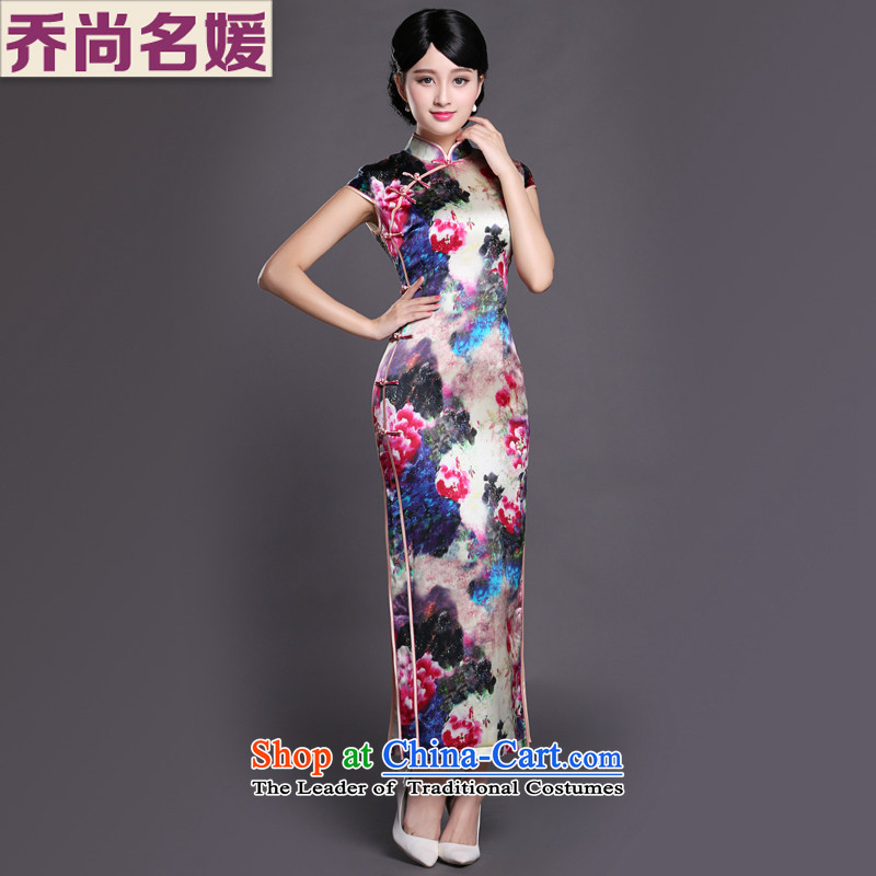 Joe was aristocratic cheongsam dress suit Chinese banquet silk long ethnic CKZS010聽XXXL Suit