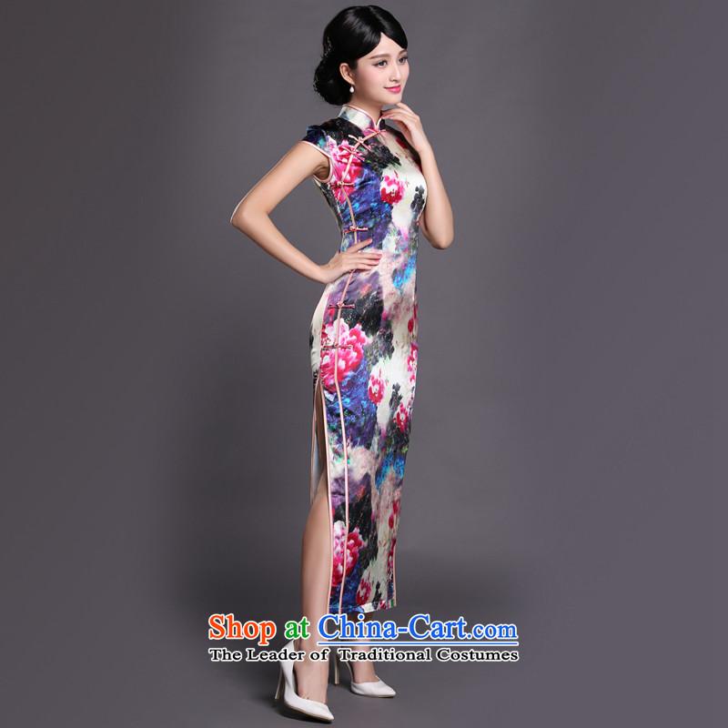 Joe was aristocratic cheongsam dress suit Chinese banquet silk long ethnic CKZS010 SUIT聽XXXL,CHOSHAN LADIES,,, shopping on the Internet