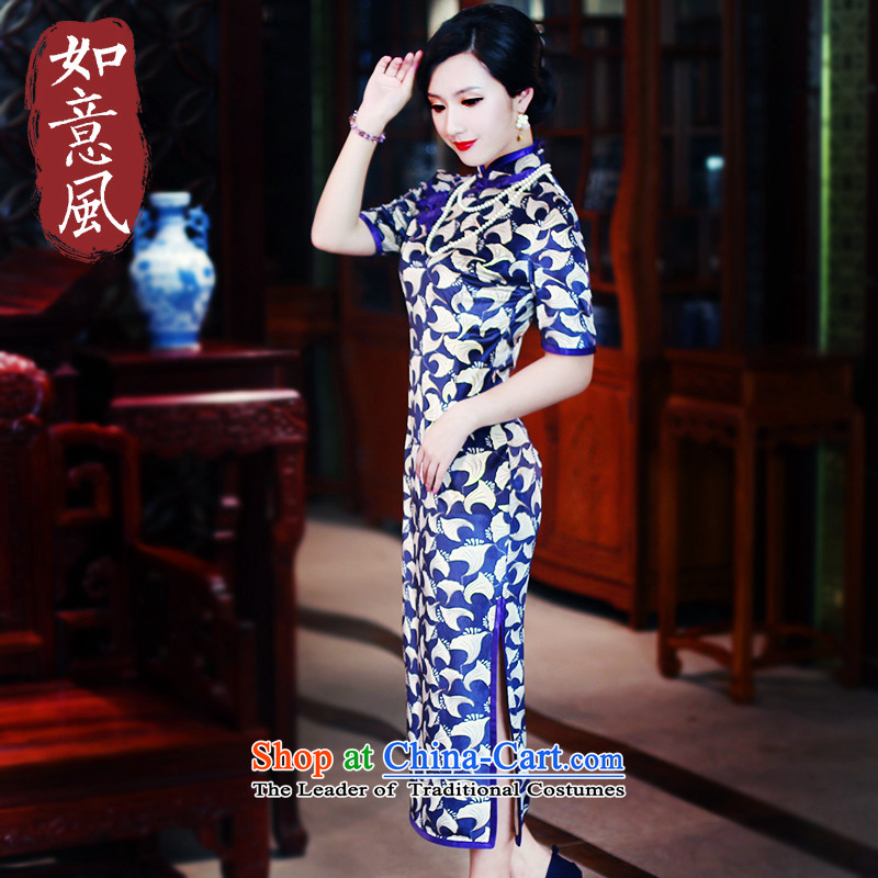 After a day of燫epublic of Korea in the autumn of 2015, the wind of daily Qipao Length of nostalgia for the improvement of Chinese President dresses 5,442 _5,442 _Suit燤