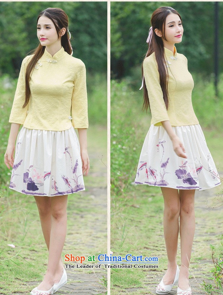 The case of the 2015 winter clothing new women of the Republic of Korea wind improved disk retro detained qipao shirt stamp costume horn cuff Yellow聽XL Photo, prices, brand platters! The elections are supplied in the national character of distribution, so action, buy now enjoy more preferential! As soon as possible.
