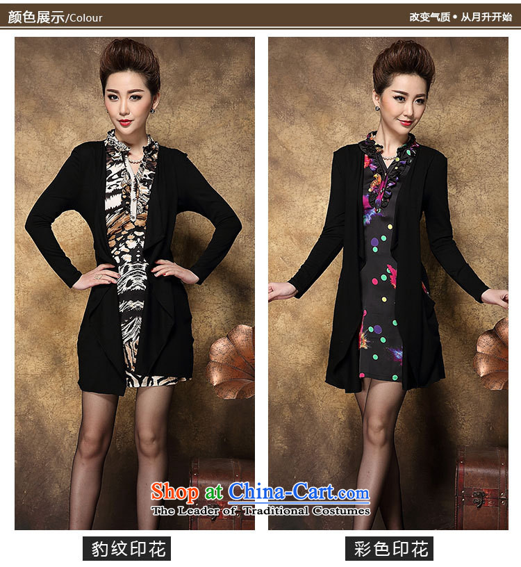 Memnarch 琊 Connie shops fall/winter collections of new Western women Leopard Stamp kit in the Sau San long mother replacing dresses stamp black large L picture, prices, brand platters! The elections are supplied in the national character of distribution, so action, buy now enjoy more preferential! As soon as possible.