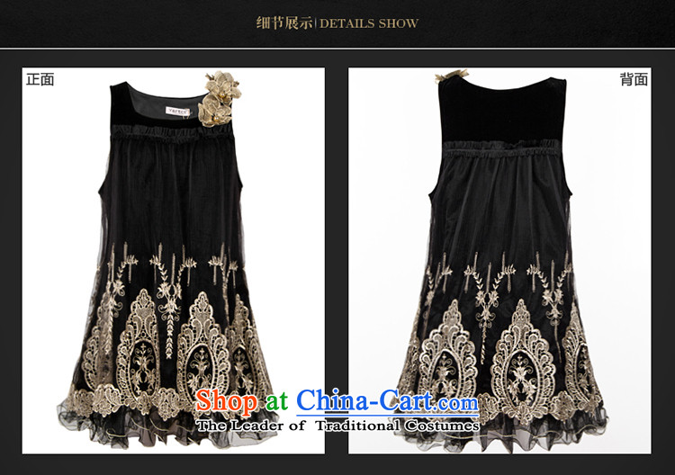 Memnarch 琊 Connie shop thick mm autumn packaged version of sister-thick xl stereo embroidery flowers sleeveless tank dresses large black XL Photo, prices, brand platters! The elections are supplied in the national character of distribution, so action, buy now enjoy more preferential! As soon as possible.