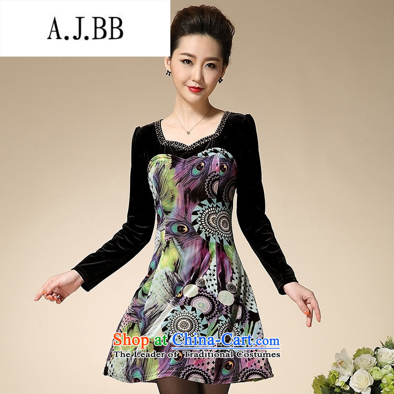 Connie shop autumn 琊 Memnarch Wool V-neck in the stamp in diamond older mother larger 3XL3 replacing one add long-sleeved dresses purple?M