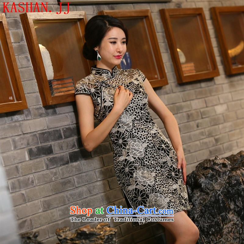 Mano-hwan's?autumn 2015 new qipao lace QIPAO) Improved stylish qipao short skirt dresses picture color?XXL