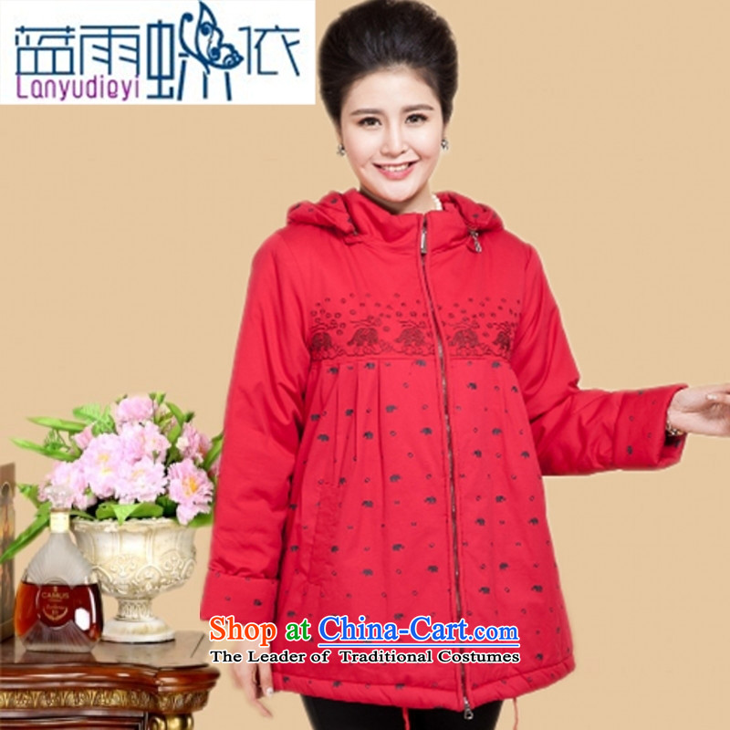 Ya-ting shop 15 new products thick mother casual cotton coat in the thick of older women cardigan cotton jacket coat grandma 200catty red cotton coat�L recommendations 200 catties above