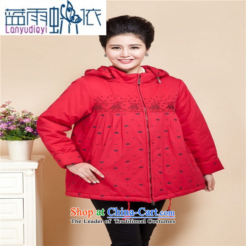 Ya-ting shop 15 new products thick mother casual cotton coat in the thick of older women cardigan cotton jacket coat grandma 200catty red cotton coat聽6XL recommendations 200 catties of more than 339,600 in the rain blue , , , shopping on the Internet