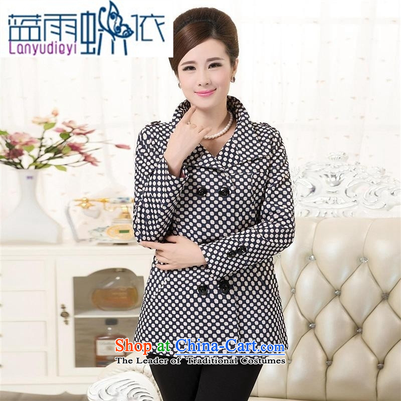 Shop 2015 Ya-ting the elderly in the autumn and winter load new products to increase code T-shirt thick with wind jacket mother Lady With?1-color?XL 130 to 140 catties recommendations