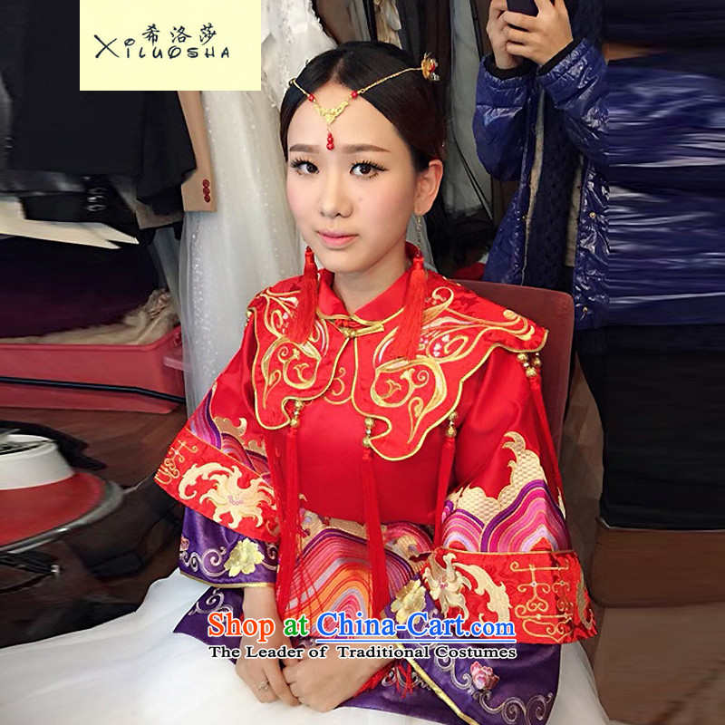 Hillo Lisa _XILUOSHA_ Cherrie Ying Sau Wo service with long 2015 new bride Chinese qipao retro serving bows dress longfeng use red燬