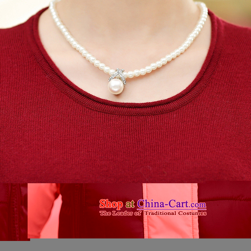 * New Hong-apples in the number of older women in the autumn and winter, forming long skirt middle-aged moms replacing sweater knit sweater Qiu Xiang green聽XL,A.J.BB,,, shopping on the Internet