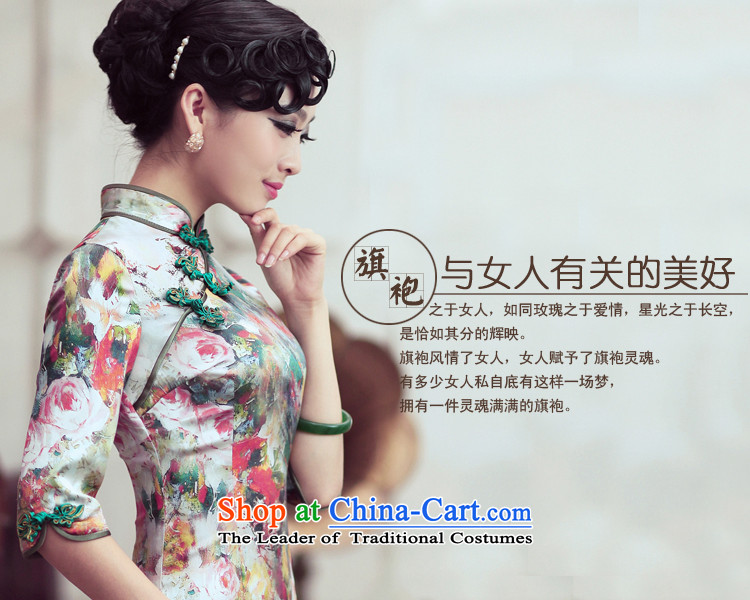 Love of birds and flowers impression of spring 2015 new cheongsam dress retro style qipao skirt flower improved impression S picture, prices, brand platters! The elections are supplied in the national character of distribution, so action, buy now enjoy more preferential! As soon as possible.