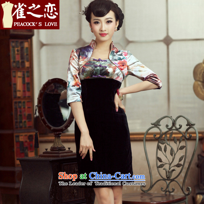 The leading edge of the sparrow Athena Chu- chun, 2015 Bonus new stitching improved stylish cheongsam dress in cuff QC232 qipao suit S-- scouring pads pre-sale 15 Days