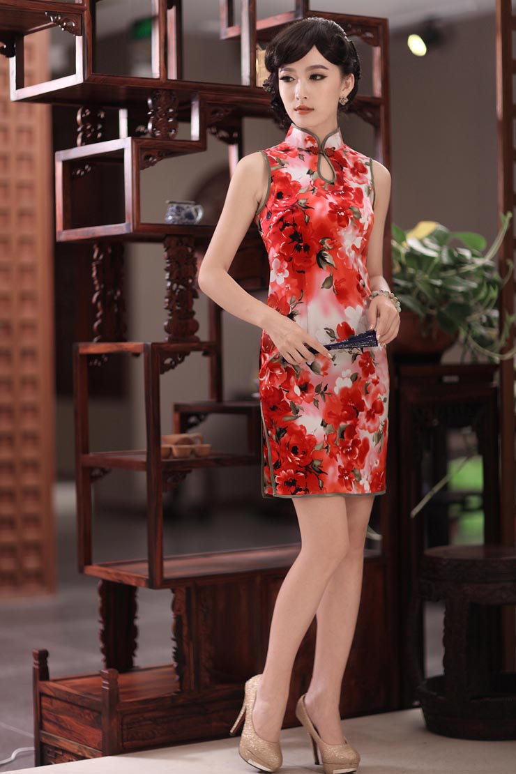 Love of birds erotic ferry聽spring 2015 new sleeveless style Silk Cheongsam improved聽QD351聽SUIT聽XXL picture, prices, brand platters! The elections are supplied in the national character of distribution, so action, buy now enjoy more preferential! As soon as possible.