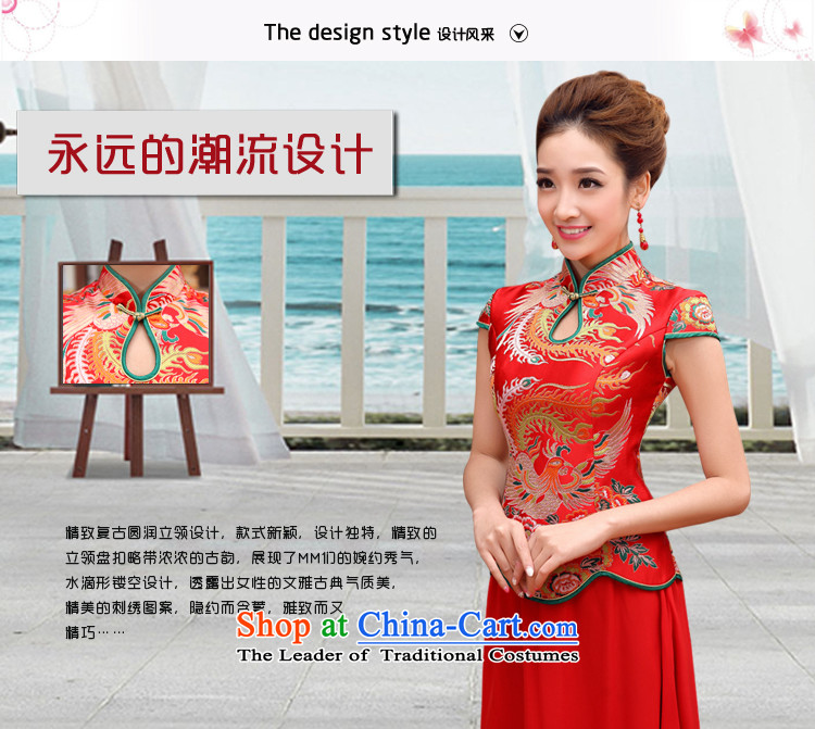 Doi m qi dragon robe red retro bridal dresses dresses improved marriage bows services wedding short-sleeved bride with two piece long cheongsam red L picture, prices, brand platters! The elections are supplied in the national character of distribution, so action, buy now enjoy more preferential! As soon as possible.