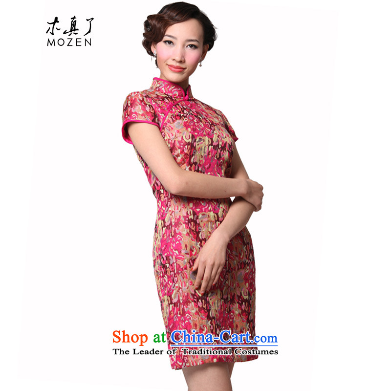 Wood of 2015 Chinese Tang Really replace half sleeve qipao stylish collar Sau San female dresses skirt package mail 11492 19 PINK�L