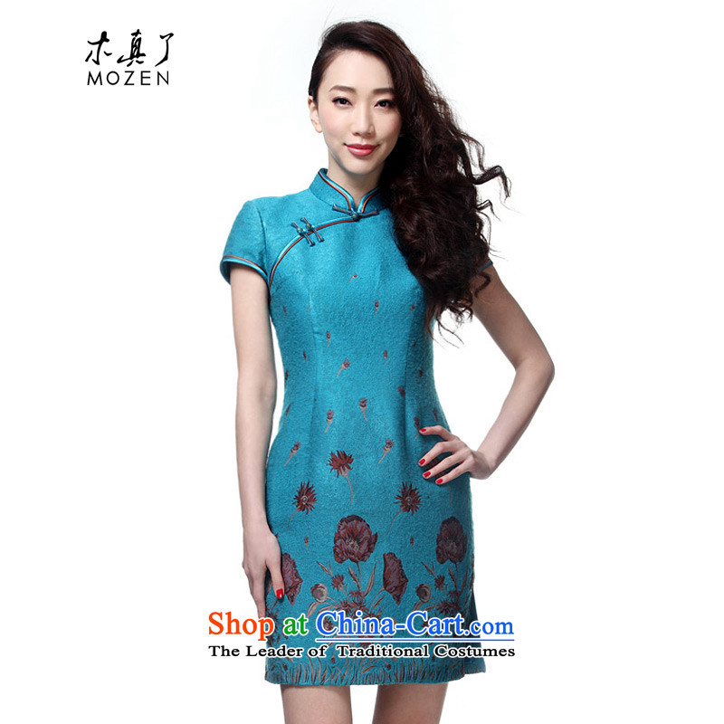 Wooden spring and summer of 2015 really new improved cheongsam dress Sau San dresses elegant Chinese female skirt�22040 11 light blue�S