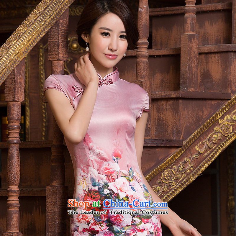 Summer 2015 qipao retro style qipao improved the skirt of daily short skirt picture color Ms. qipao燲XL