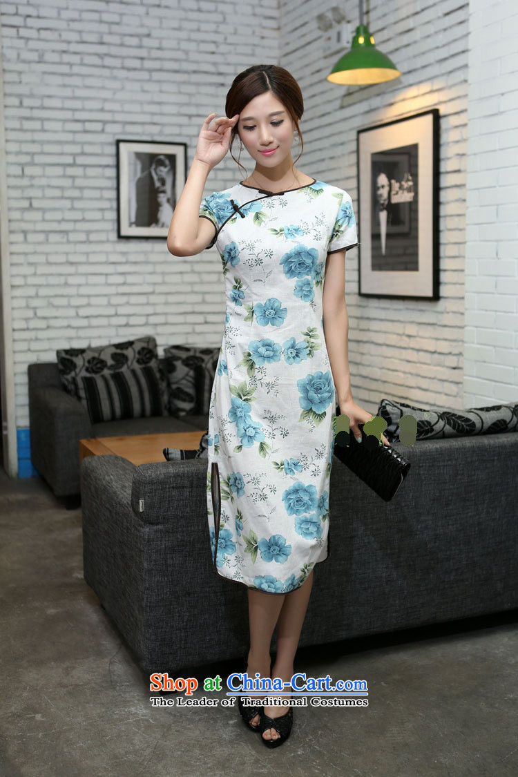 In Wisconsin, 2015 Jie spring and summer new women's national wind round-neck collar is manually Sau San long improved linen dresses qipao CUZ897 figure M picture, prices, brand platters! The elections are supplied in the national character of distribution, so action, buy now enjoy more preferential! As soon as possible.