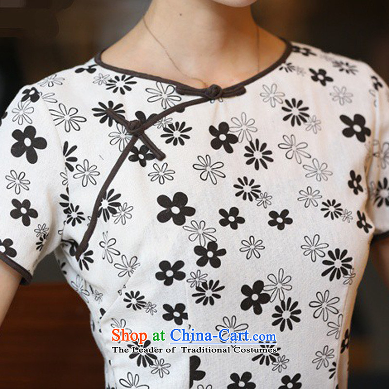 In Wisconsin, 2015 Jie spring and summer flowers to women's neck tie in Sau San manually long improved linen dresses qipao CHD213 figure S, Cheng Kejie, the , , , shopping on the Internet