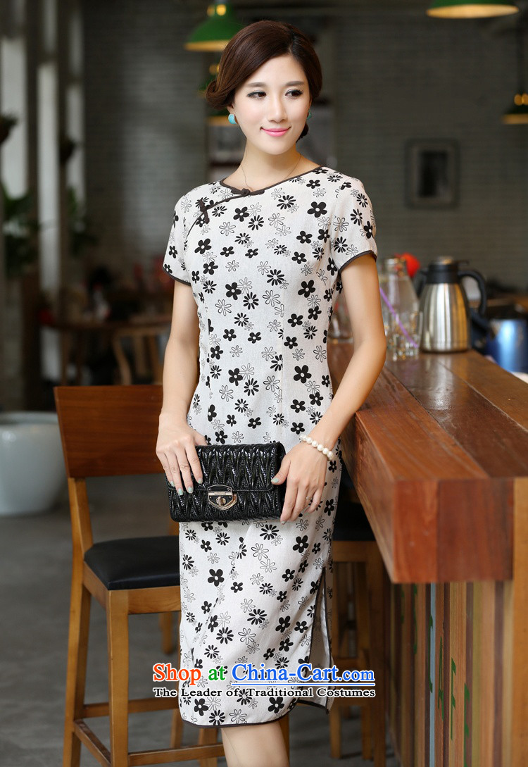 In Wisconsin, 2015 Jie spring and summer flowers to women's neck tie in Sau San manually long improved linen dresses qipao CHD213 figure S picture, prices, brand platters! The elections are supplied in the national character of distribution, so action, buy now enjoy more preferential! As soon as possible.