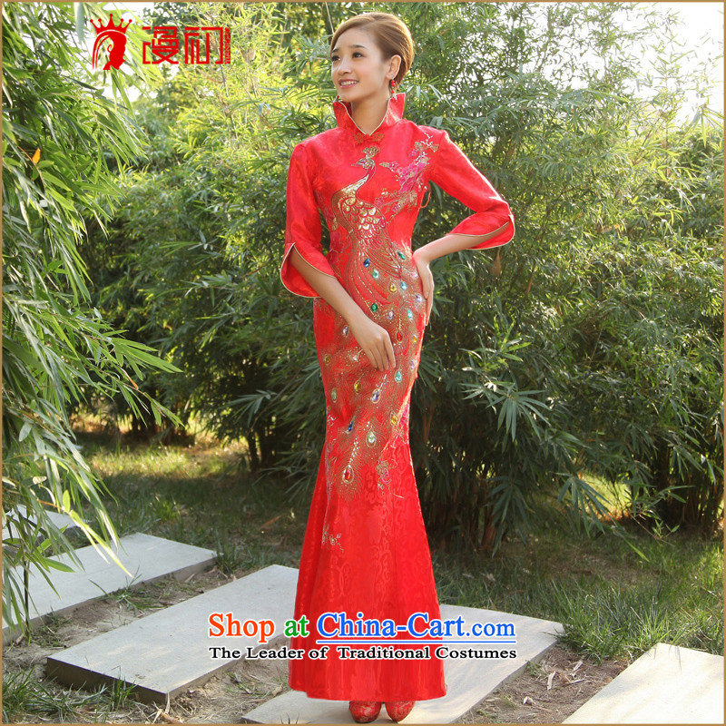 The early marriage improvement of Castores Magi qipao cheongsam dress?2015 new cheongsam retro graphics and slender, bridal dresses made red