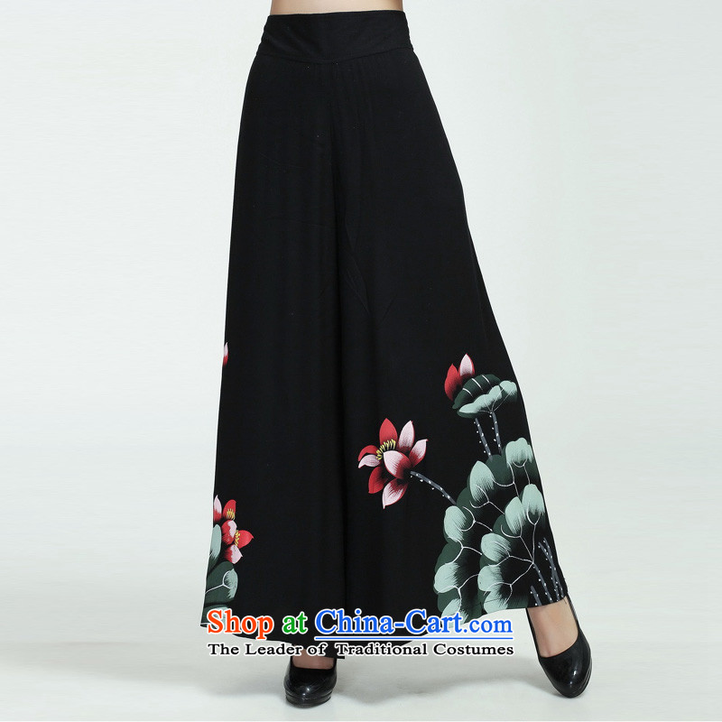 Darth their 2015 Spring/Summer female lotus cotton linen pants leg of casual pants short pants W2369-1 figure XXL