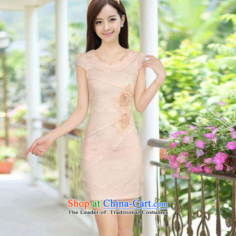 Qipao summer qipao genuine improvement stylish girl graphics waist embroidery cheongsam summer cheongsam dress orchids in the toner聽, L, Stephen micro-mute , , , shopping on the Internet